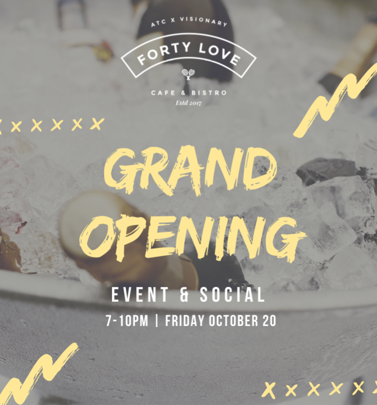 forty love cafe & bistro grand opening