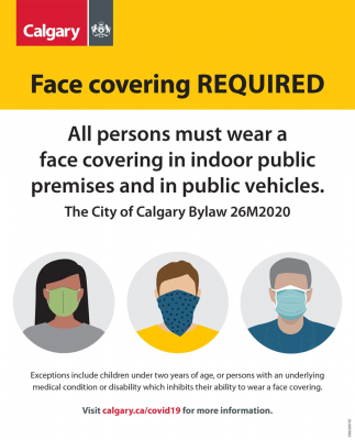 City of Calgary Face Covering Bylaw