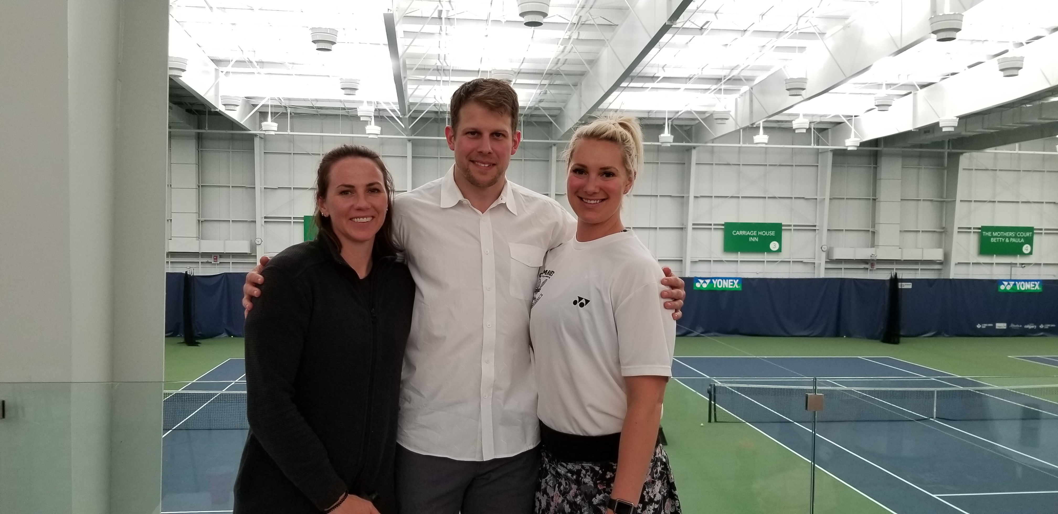alberta tennis centre teaming up with comrie's sports equipment bank