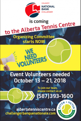 Calgary National Bank Challenger Looking for Volunteers!