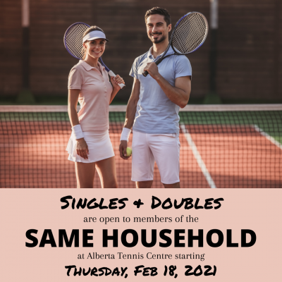 Singles & Doubles Play Open to Members of the Same Household!