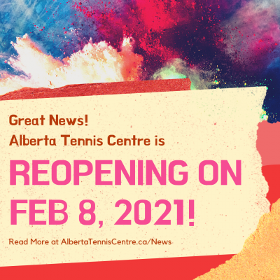 Great News! We are reopening on Feb 8, 2021