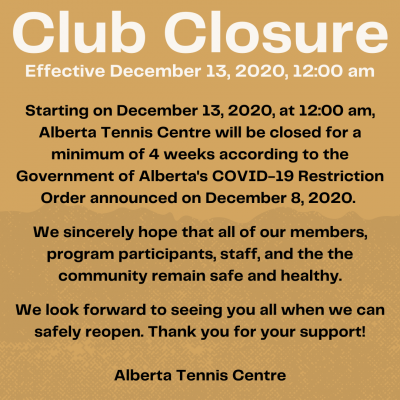Happy Holidays -  Information about the Dec 13, 2020 - Jan 10, 2021 Closure